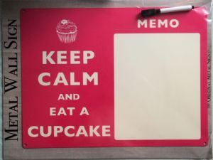 Keep Calm Cupcake Memo Board